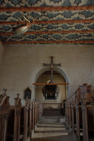 TIngelstad gamle kirke - interiør